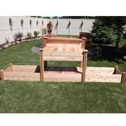 Gronomics 12 ft x 2.5 ft Cedar Raised Garden