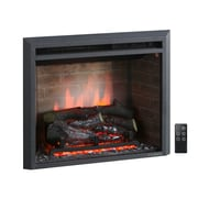 Puraflame 33'' Black 750/1500W Western Wall Mount Electric Fireplace Insert; 33''