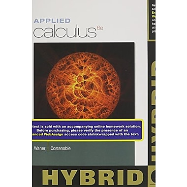 Applied Calculus, Hybrid, New Book (9781285056401)