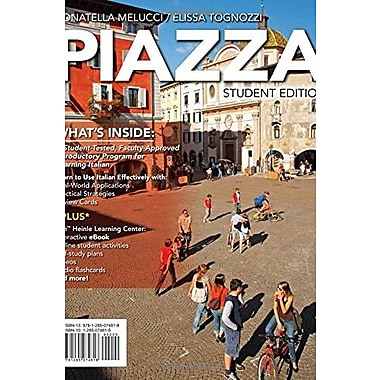 PIAZZA (with iLrn(TM) Printed Access Card) (New, Engaging Titles from 4ltr Press), New Book (9781285074818)