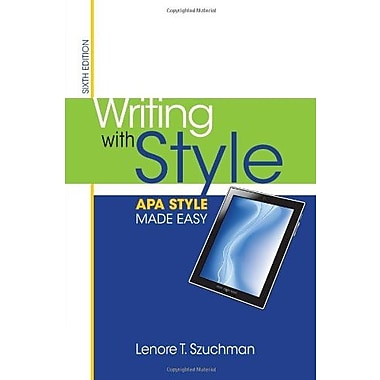 Writing with Style: APA Style Made Easy, New Book (9781285077062)