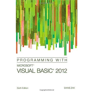 Programming with Microsoft Visual Basic 2012, Used Book (9781285077925)