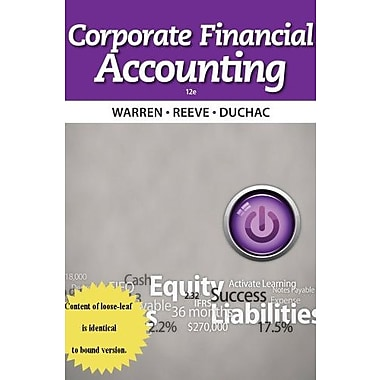 Corporate Financial Accounting, Used Book (9781285078588)