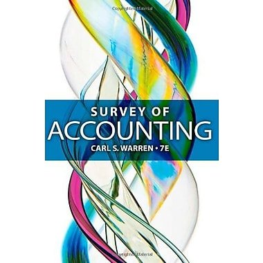 Survey of Accounting, New Book (9781285183480)