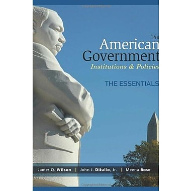 American Government, Essentials Edition, Used Book (9781285195124)