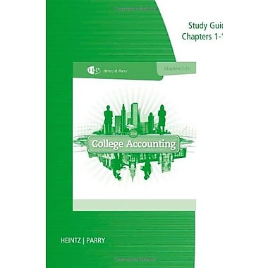 Study Guide and Working Papers, Chapters 1-9 and 10-15 for Heintz/Parry's College Accounting 21st, Used Book (9781285418896)