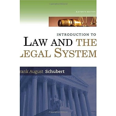 Introduction to Law and the Legal System, New Book (9781285438252)