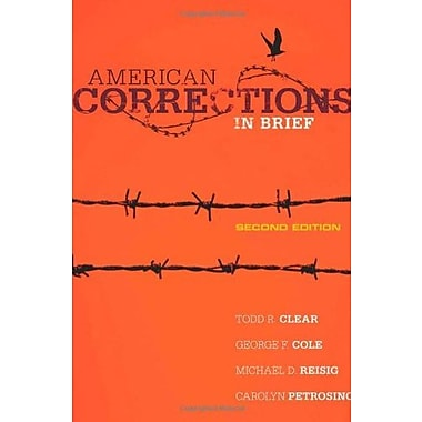 American Corrections in Brief, Used Book (9781285458427)