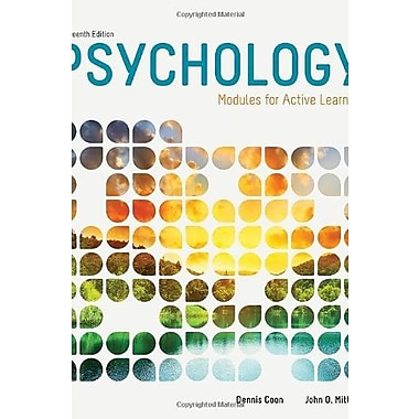 Psychology: Modules for Active Learning, New Book (9781285739281)