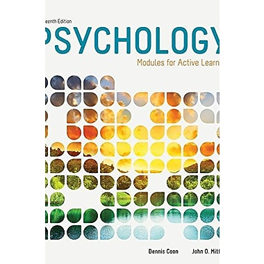 Psychology: Modules for Active Learning (9781285740560)