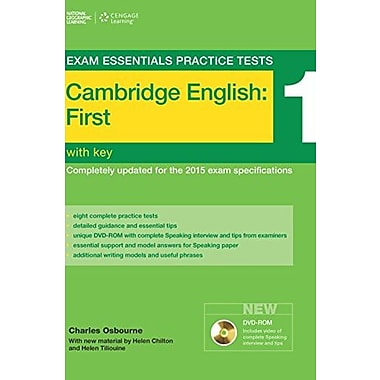 Exam Essentials: Cambridge First Practice Tests 1 w/key + DVD-ROM, Used Book (9781285744926)