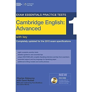 Exam Essentials: Cambridge Advanced Practice Tests 1 w/key + DVD-ROM, Used Book (9781285744971)