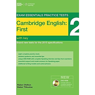 Exam Essentials: Cambridge First Practice Tests 2 w/key + DVD-ROM, Used Book (9781285745022)