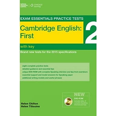 Exam Essentials: Cambridge First Practice Tests 2 w/o key + DVD-ROM (9781285745046)