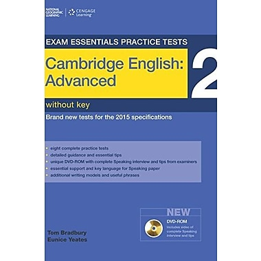 Exam Essentials: Cambridge Advanced Practice Tests 2 w/o key + DVD-ROM, Used Book (9781285745091)
