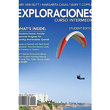 Exploraciones curso intermedio (with iLrn Printed Access Card and Student Activities Manual), New Book (9781285772516)
