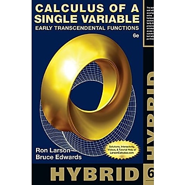 Calculus of a Single Variable, Hybrid: Early Transcendental Functions, Used Book (9781285777054)