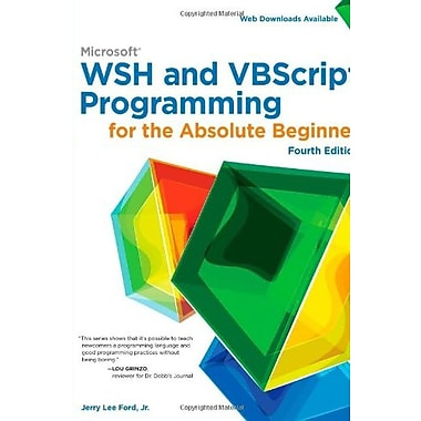 Microsoft WSH and VBScript Programming for the Absolute Beginner, 4th, Used Book (9781305260320)