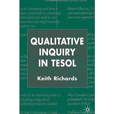 Qualitative Inquiry in TESOL, Used Book (9781403901354)
