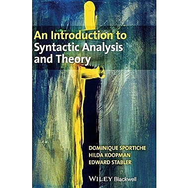 An Introduction to Syntactic Analysis and Theory, Used Book (9781405100168)