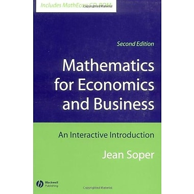 Mathematics for Economics and Business: An Interactive Introduction, Used Book (9781405111270)