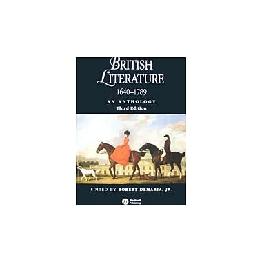 British Literature 1640 - 1789: An Anthology, Used Book (9781405119283)