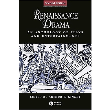 Renaissance Drama: An Anthology of Plays and Entertainments, New Book (9781405119672)