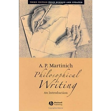 Philosophical Writing: An Introduction, Used Book (9781405131674)