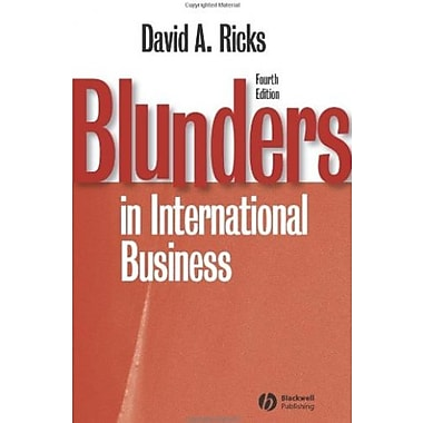 Blunders in International Business, New Book (9781405134927)