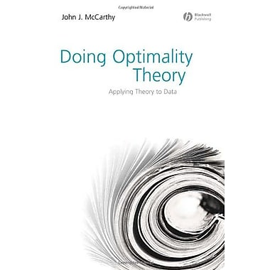 Doing Optimality Theory: Applying Theory to Data, Used Book (9781405151368)