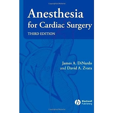 Anesthesia for Cardiac Surgery, New Book (9781405153638)
