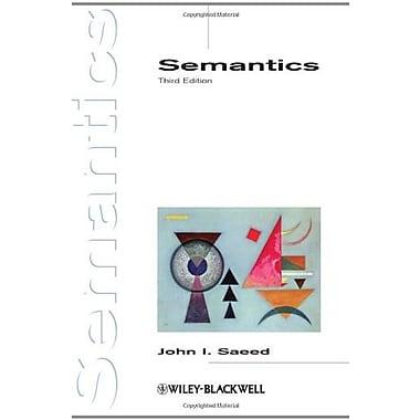 Semantics, New Book (9781405156394)