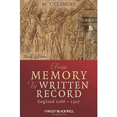 From Memory to Written Record: England 1066 - 1307, Used Book (9781405157919)