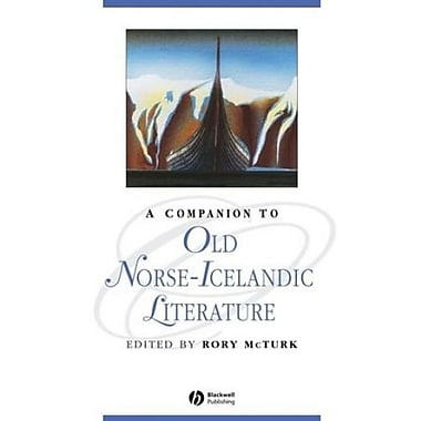 A Companion to Old Norse-Icelandic Literature and Culture, New Book (9781405163675)