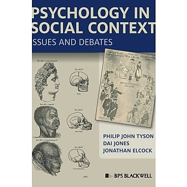 Psychology in Social Context: Issues and Debates, New Book (9781405168236)