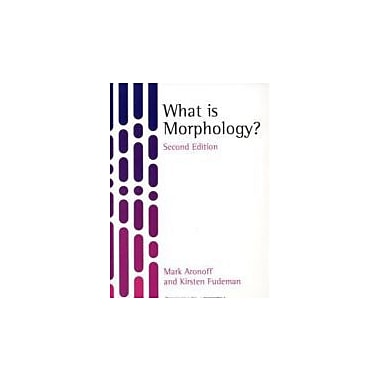 What is Morphology, New Book (9781405194679)