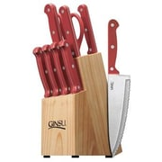 Ginsu Essential Series 10 Piece Block Set; Red