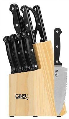 Ginsu Essential Series 10 Piece Block Set; Black