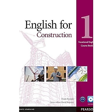 English for Construction 1 Course Book with CD-ROM (Vocational English Series), New Book (9781408269916)