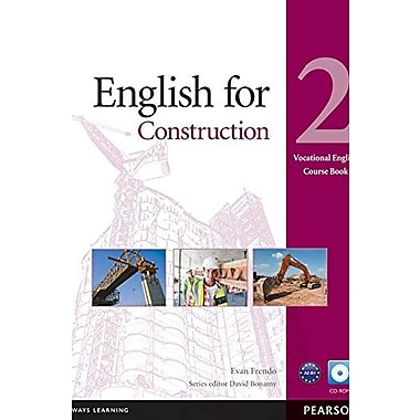 English for Construction 2 Course Book with CD-ROM, Used Book (9781408269923)