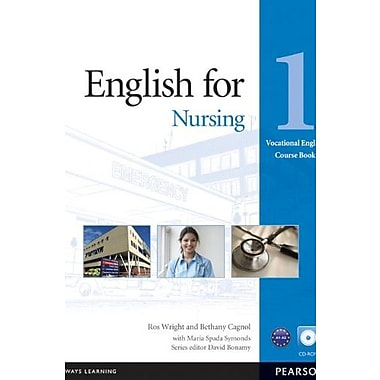 English for Nursing 1 Course Book with CD-ROM (Vocational English Series), New Book (9781408269930)