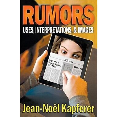Rumors: Uses, Interpretations, and Images, New Book (9781412851558)