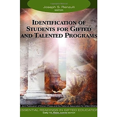 Identification of Students for Gifted and Talented Programs, Used Book, (9781412904285)