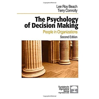 The Psychology of Decision Making: People in Organizations, Used Book (9781412904391)