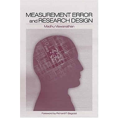 Measurement Error and Research Design, Used Book (9781412906425)