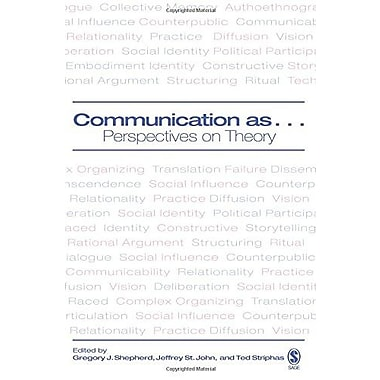 Communication as : Perspectives on Theory, Used Book (9781412906579)