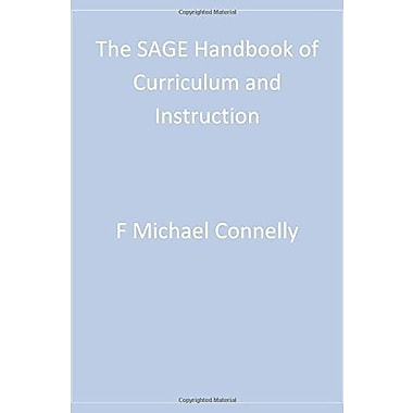 The SAGE Handbook of Curriculum and Instruction, New Book (9781412909907)