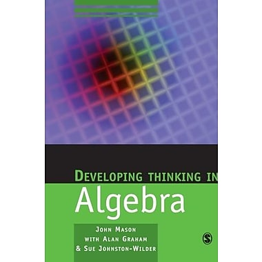 Developing Thinking in Algebra (Published in association with The Open University), New Book (9781412911719)