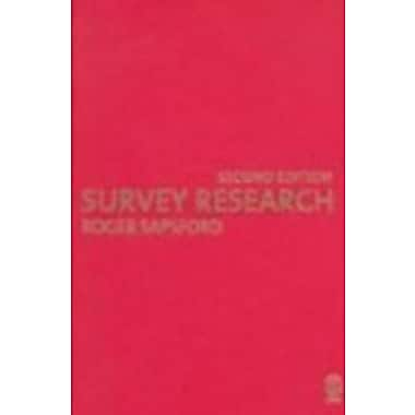 Survey Research, New Book (9781412912310)