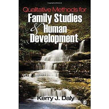 Qualitative Methods for Family Studies and Human Development (9781412914024)